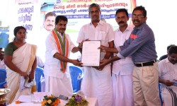 Kerala Revenue Minister Adoor Prakash handovering affiliated Certificate of Ministry of Tourism, Govt. of India