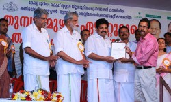 Receiving certificate From the minister for tourism(Kerala State) Sri.A.P. Anil Kumar on 01/Jun/2015