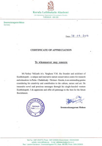 Certificate from Kerala lalitakala academy