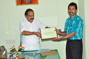 Receiving innovative messenger award