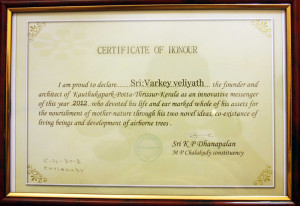 Certificate for innovative messenger for the year